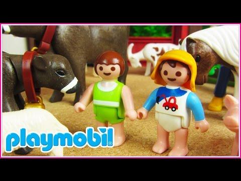 Playmobil 8 | Los bebés van de excursión a la granja escuela
