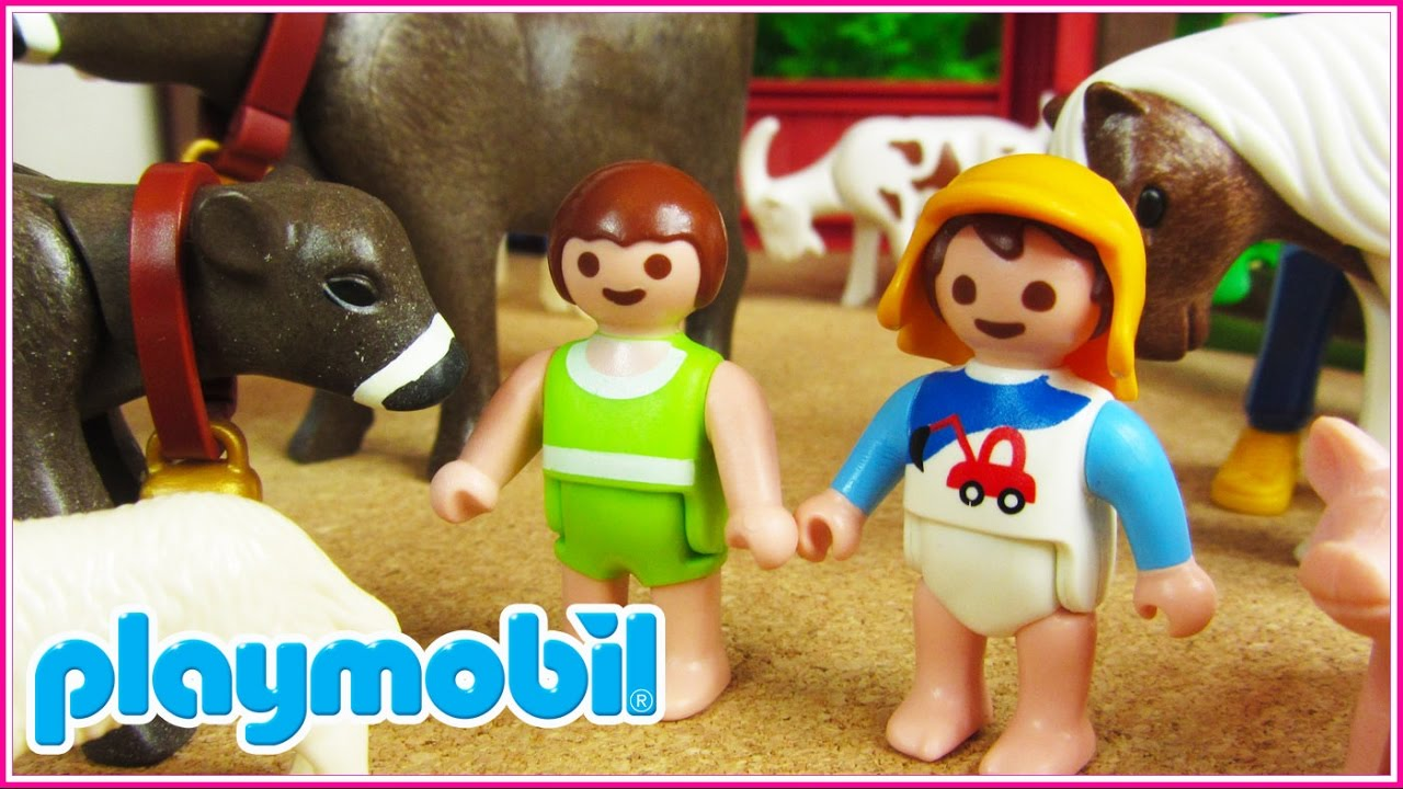 Playmobil 8 los beb s van de excursi n a la granja for La granja de playmobil precio