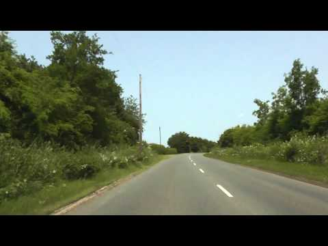 Driving Along The B4503 From Malvern To Leigh Sinton, Worcestershire, England 5th July 2013