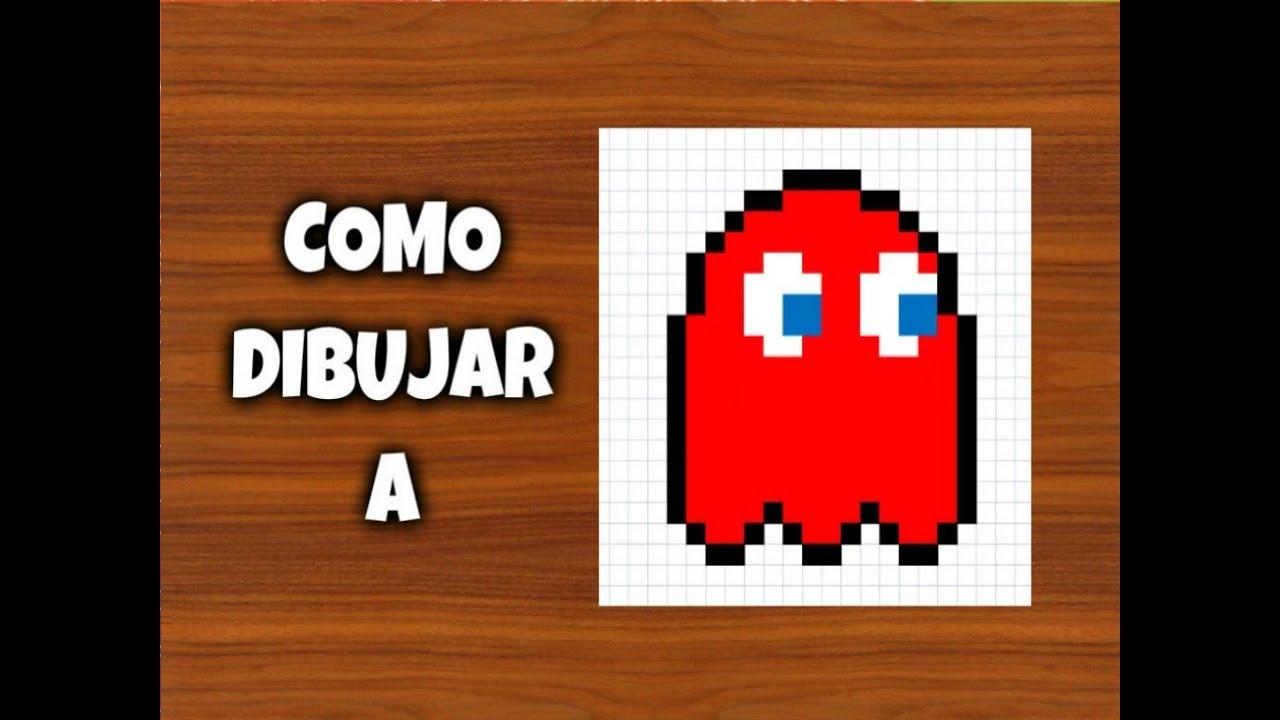 Como dibujar a el fantasma Come-Cocos | Para Minecraft | Pixel Art ...
