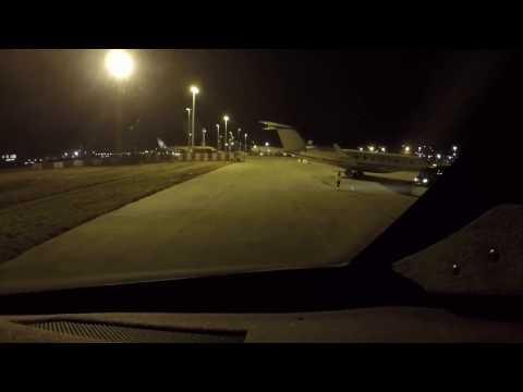 Gulfstream V landing Brussels BRU Feb 2017
