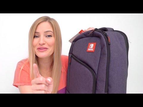 ✨ NEW Nintendo Switch Backpack and Cases + Zelda / Mario Kart Gameplay!