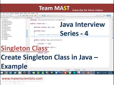 Java Interview Series - 4 | Java Singleton class Example | Team MAST
