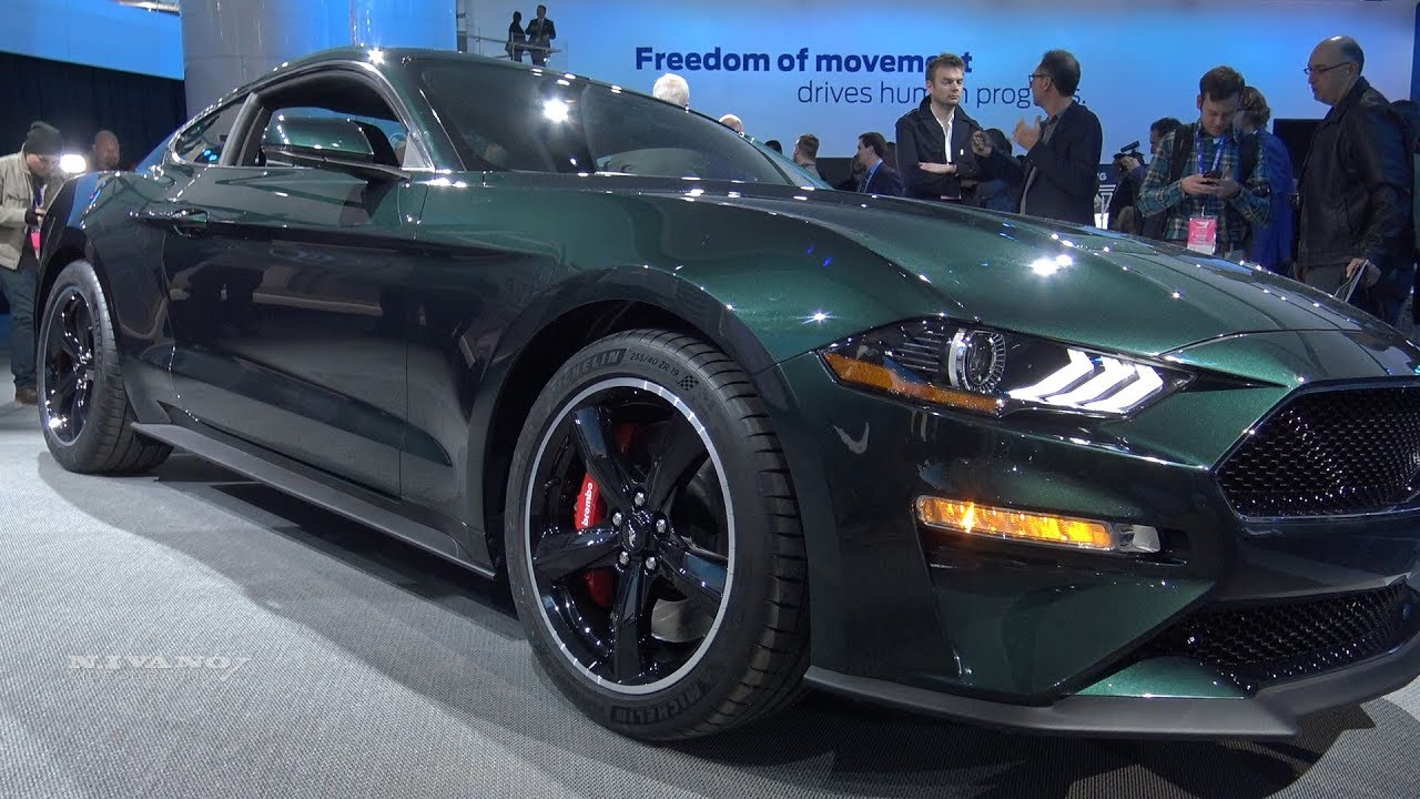 2019 Ford Mustang Bullitt Exterior And Interior Walkaround 2018 Detroit Auto Show