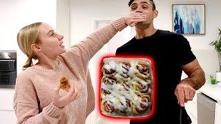 VEGAN CINNAMON ROLLS?! Cooking w/ Lauren & Reece | Lauren Curtis