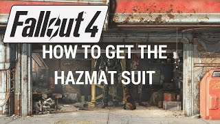 Fallout 4 - How To Get The Hazmat Suit: - 1000 Radiation Protection!