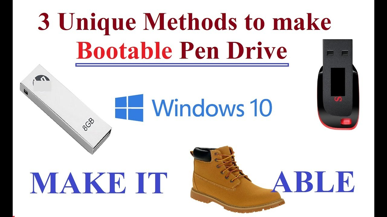 how to create win7 bootable pendrive