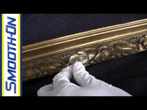 Mold Making Tutorial How To Repair An Antique Picture Frame With