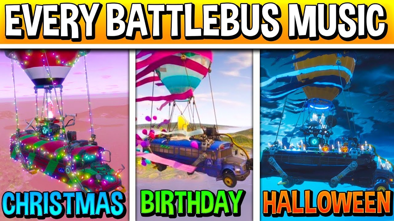 All Fortnite Battle Bus Theme Songs Season 1 Christmas