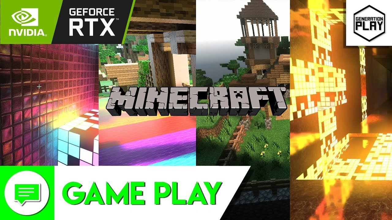 AMAZING Minecraft Ray Tracing (RTX) & HD Texture Gameplay | Nvidia Geforce