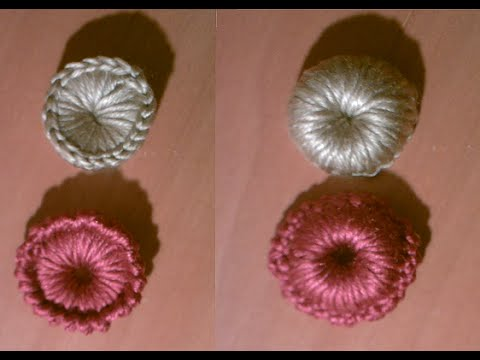 Como hacer botones a a ganchillo o crochet - YouTube