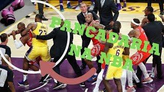 Pancadaria no jogo do Lebron James - Lakers x Rockets