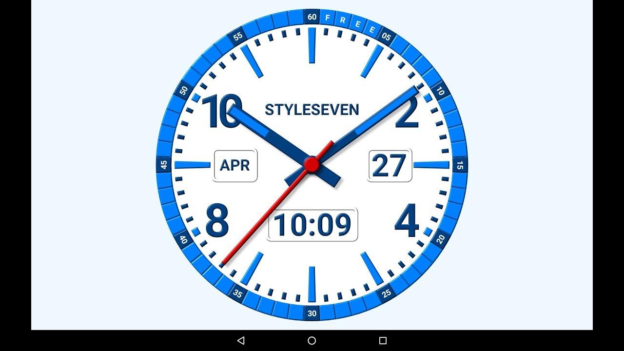 Kit Analog Clock Live Wallpaper 7 Youtube