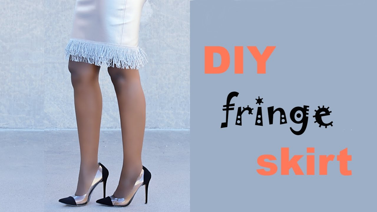 DIY: Fringe Skirt | Refashion - YouTube