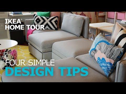 Design Tips: Four Simple Decorating Ideas - IKEA Home Tour