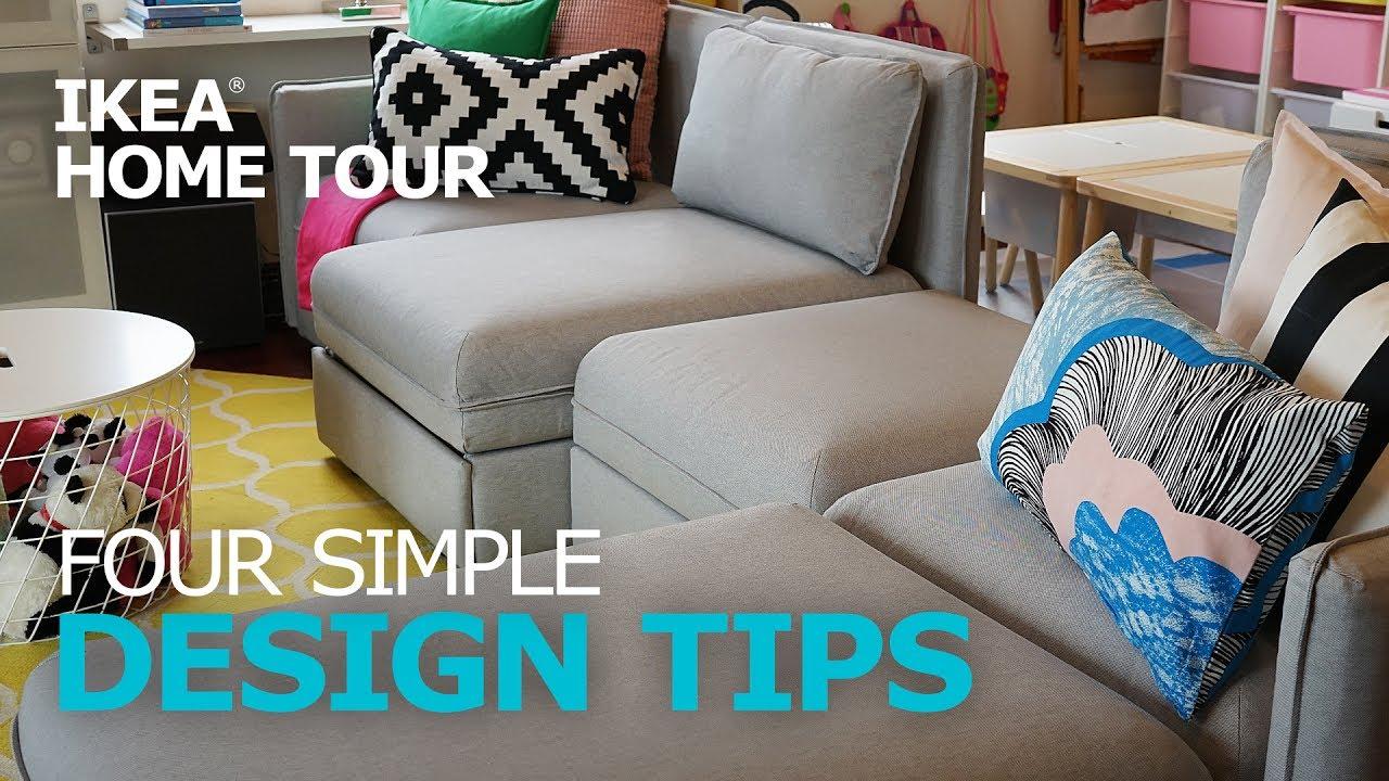 Design Tips: Four Simple Decorating Ideas - IKEA Home Tour - YouTube