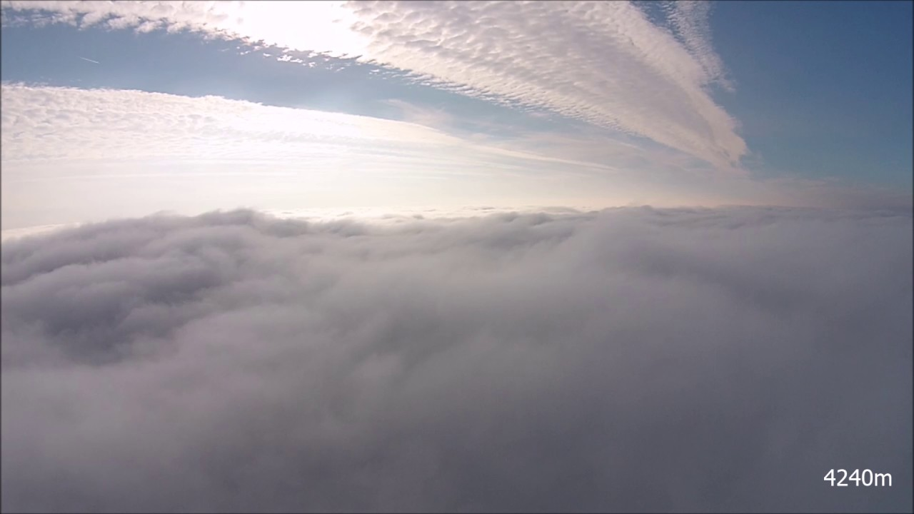 cloud surfing at 4200m altitude above DJI Mavic pro official height limit