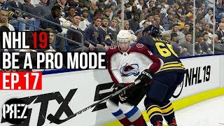 NHL 19 Be A Pro Mode - BIG HITS TURN INTO PENALTIES Ep.17 (Xbox One X)