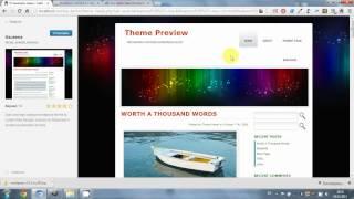 Видеоурок - Как установить новую тему на Wordpress?