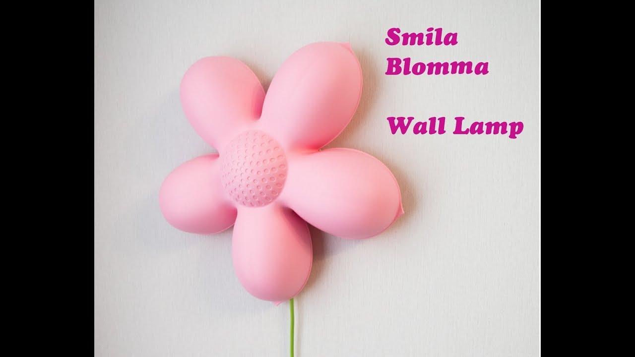 Ikea Smila Blomma Wall Lamp