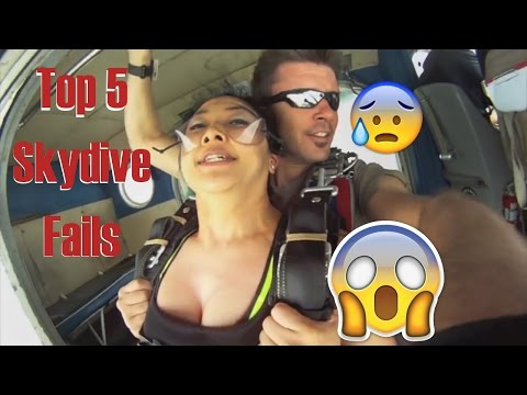 TOP 5 SKYDIVE FAILS CAUGHT ON CAMERA