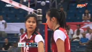 [HD]Vietnam Vs Chinese Taipei:Asian Women's Volleyball Championship 2015[Quarterfinals]