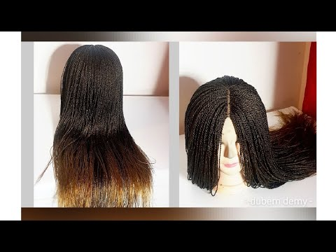 Download How To Make A Million Braids Wig Without Closure From Start To Finish |...