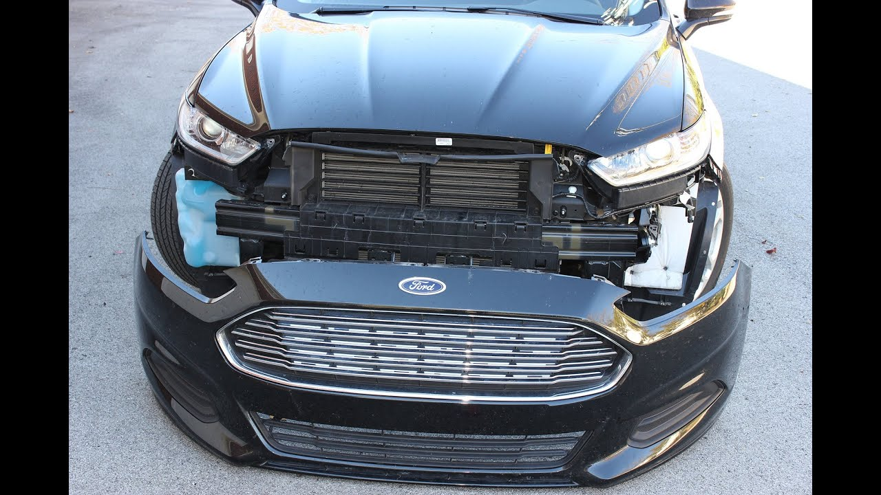 hight resolution of ford fusion front bumper cover removal 2013 second generation