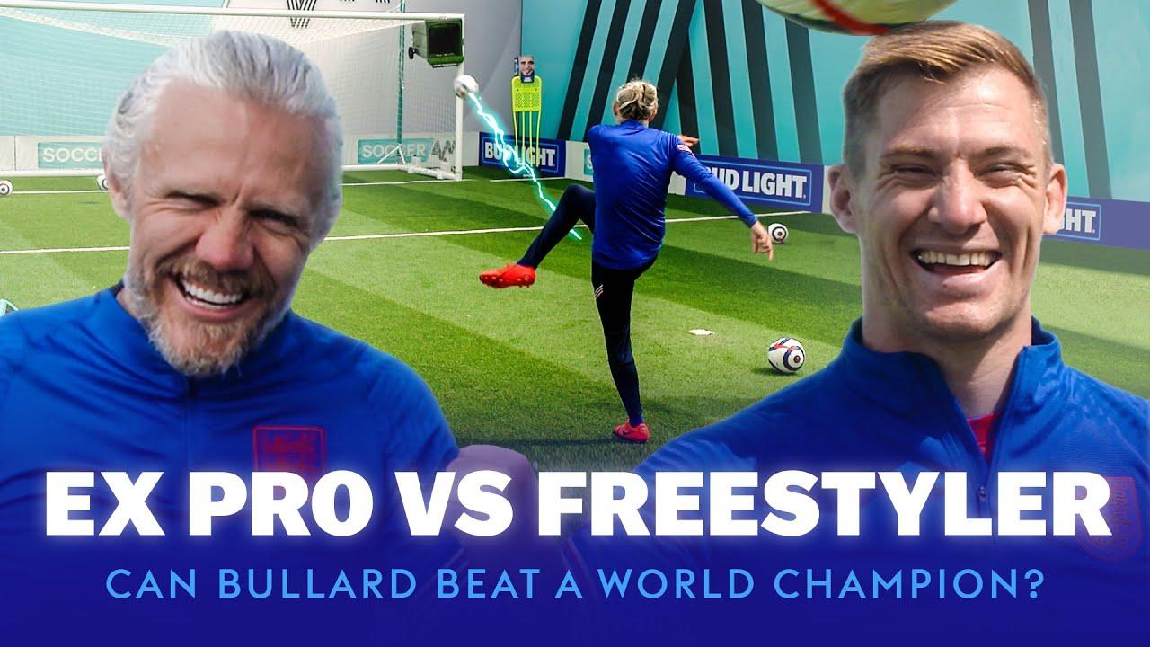 Ex-Pro Footballer vs World Champion Football Freestyler | Bullard's Boxheads
