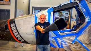 Drag Racing Bush Plane gets custom carbon fiber door that can open in flight | Scrappy #36