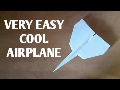 מטוס מגניב מנייר | קל להכנה| A cool airplane from paper |