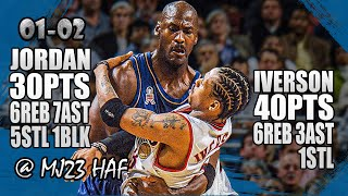 Michael Jordan vs Allen Iverson Highlights (2001.11.28) - 70pts Total! MJ Shows Who's Boss!