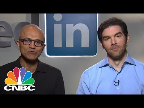 Microsoft And LinkedIn CEOs On Their $26.2B Deal | CNBC