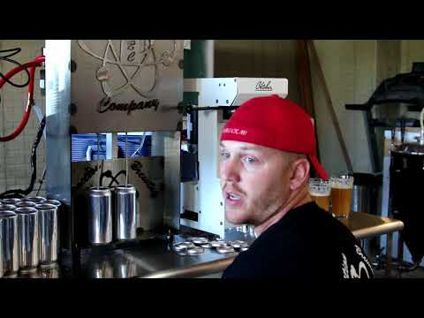Reaction Brewing Company semi automated home brew canning