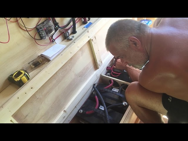 RV Trailer Build #107 - Added 2 New Batteries. Victron BMV Settings & Battery Monitoring Stats