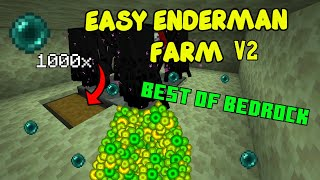 How To Build An Enderman XP Farm V2 [EASY] Minecraft BEDROCK PS4 PC Xbox And Java 1.14 - 1.16