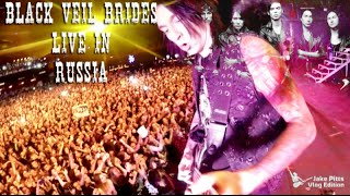 Black Veil Brides Live in Russia - Jake Pitts Guitar Cam