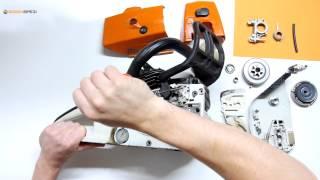 Ölpumpe, Ölschnecke und Ölschlauch austauschen bei einer Stihl Motorsäge