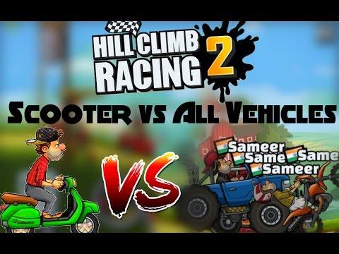 Hill Climb Racing 2 Scooter VS All Vehicles