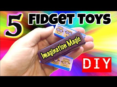 5 EASY DIY FIDGET TOYS - NEW FIDGET TOYS FOR SCHOOL -  AWESOME FIDGET TOYS YOU CAN MAKE AT HOME