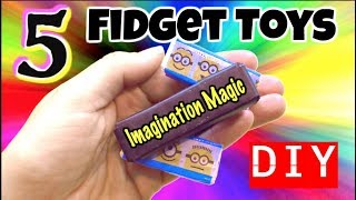 5 EASY DIY FIDGET TOYS - NEW FIDGET TOYS FOR SCHOOL - COOL DIY TOYS KIDS CAN MAKE AT HOME