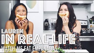 WATCH ME EAT EMPANADAS // MUKBANG // PAST LIVES, FINDING PURPOSE + MORE | Lauren In Real Life