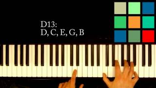 How To Play A D13 Chord On The Piano