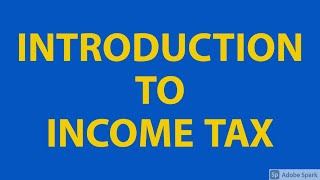 Introduction to Income Tax Ordinance 2001
