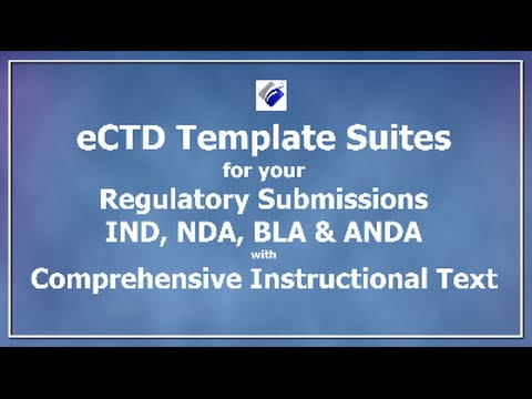 eCTD Templates for Advertising - IND - NDA - BLA - ANDA - YouTube