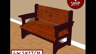 Chief's Shop Sketch Of The Day: Rustic Foyer Bench