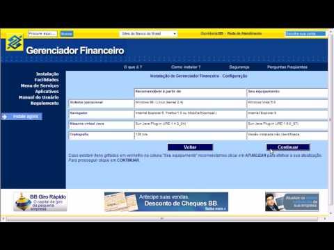 gerenciador financeiro bb empresa