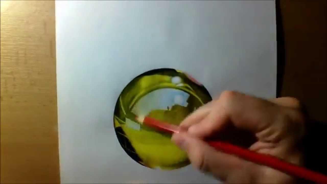 Kresba Sklenene Koule Drawing Glass Ball Youtube