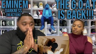 WIFE REACTS to Eminem - Darkness | POWERFUL MESSAGE! THE G.O.A.T. IS BACK!!