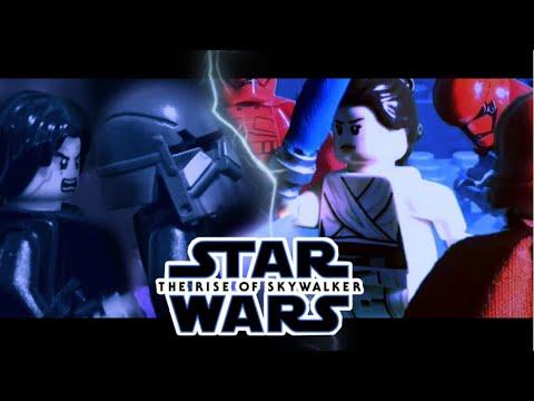 Star Wars The Rise Of Skywalker Kylo Ren Vs Knights Of Ren Rey Vs Palpatine S Guards Scene In Lego Youtube